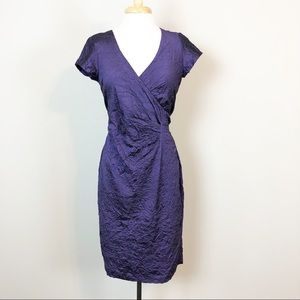 Nicole Miller Beckett Crinkle Wrap Dress